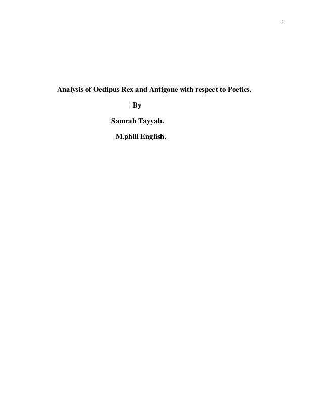 oedipus the king summary