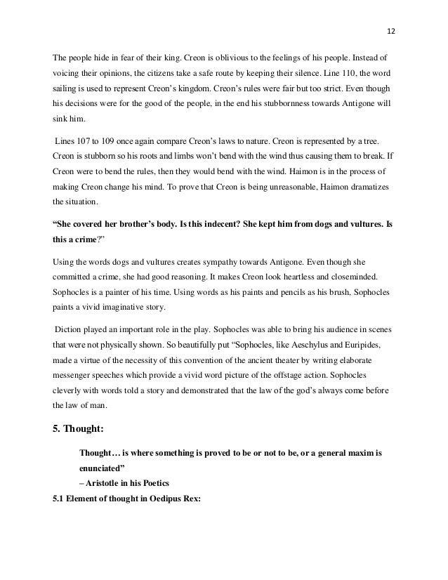 Oedipus antigone thesis