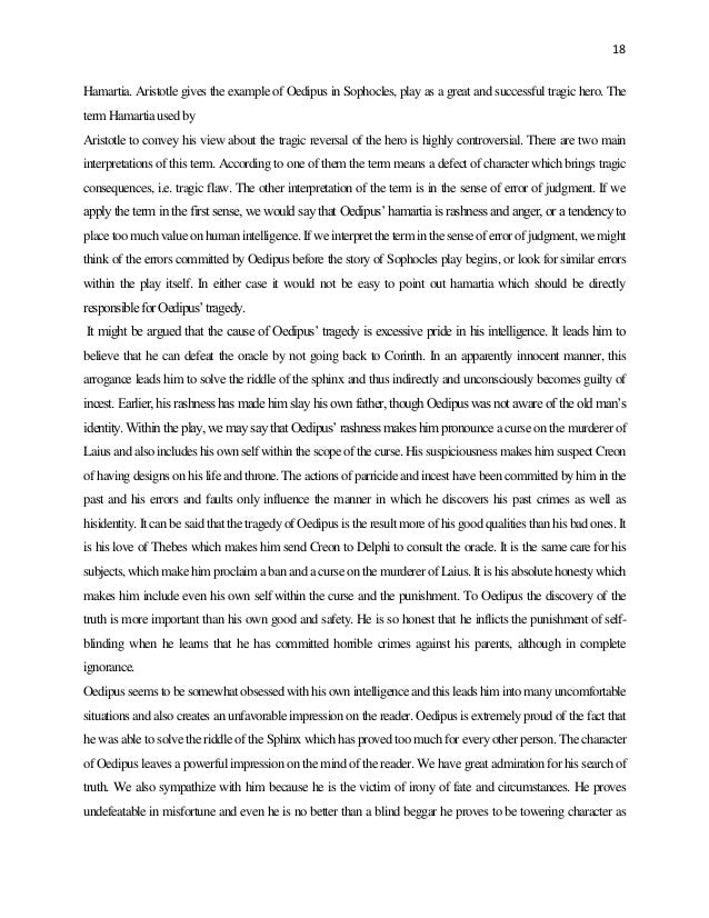 oedipus rex essay Free oedipus papers, essays, and research papers  in oedipus rex, fate is  something that unavoidably befalls two characters the gods decide oedipus  and.
