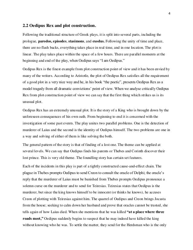 oedipus article thesis outline
