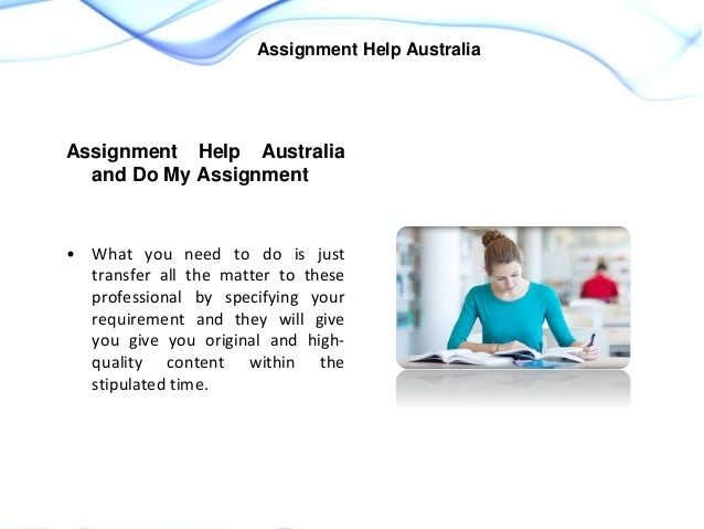 Do my assignments australia
