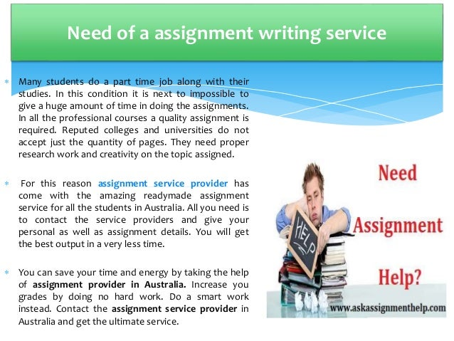 Who can help do assignment