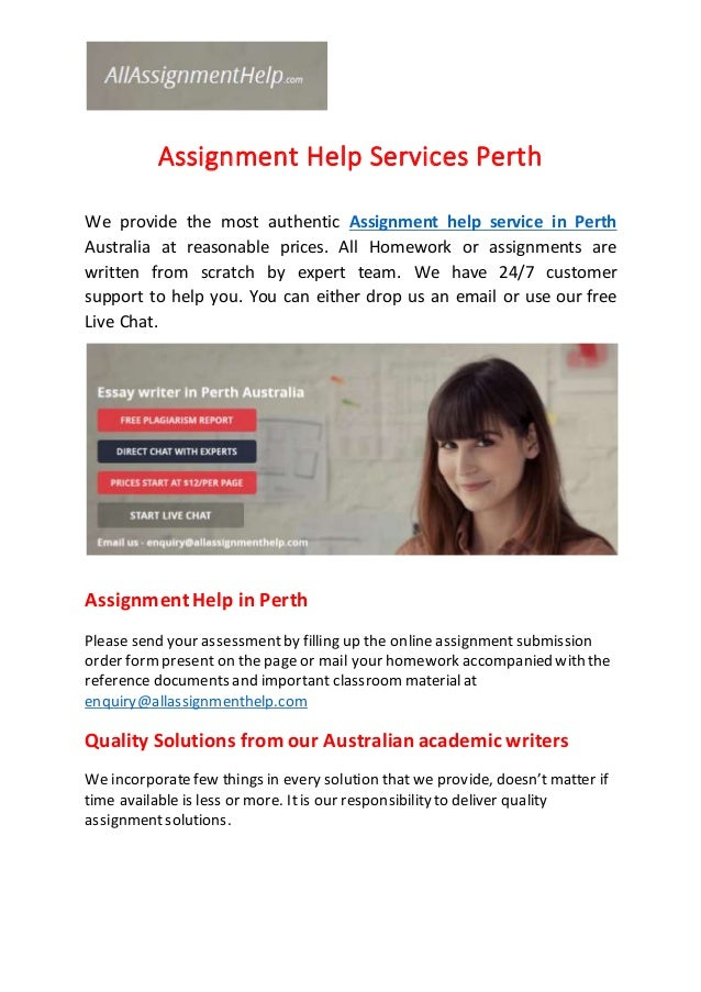 Assignment Help Perth, WA: Instant Writing by Australian Experts