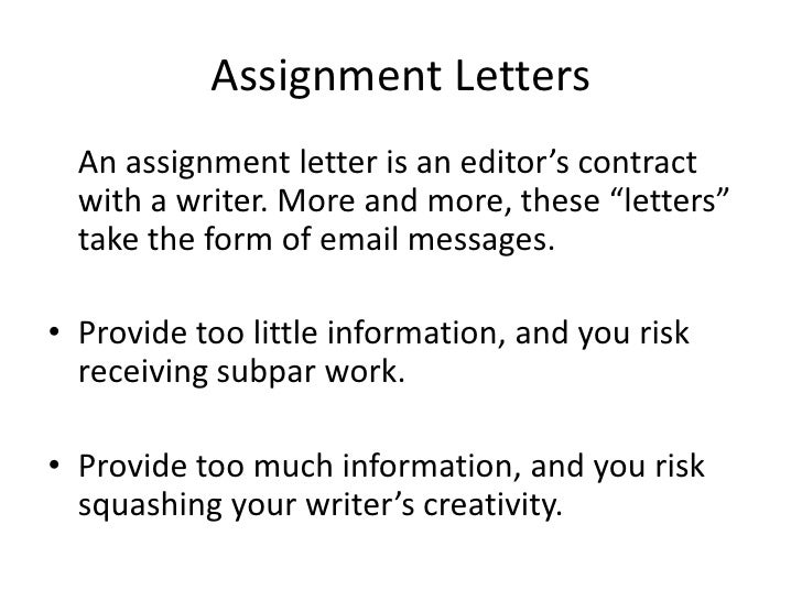 take assignment