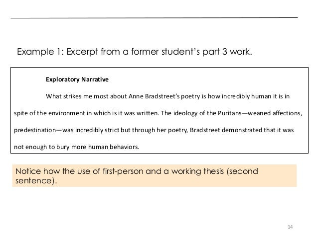 First Person Narrative Examples Essays The Idiot Annotated With