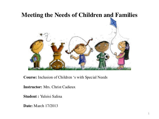 Assignment Meeting The Needs Of Children And Families