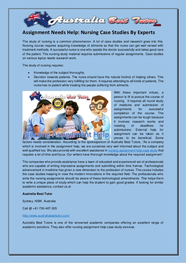 case study help nursing Studies related to human health are rightfully considered to be the most important entrust our expert assignment writers with your nursing case study and get an original sample to look up to.
