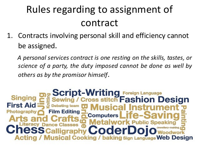 Assignment Of Contract Performance