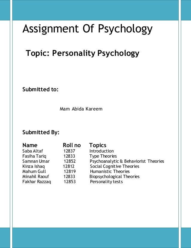 psychology topics for presentation