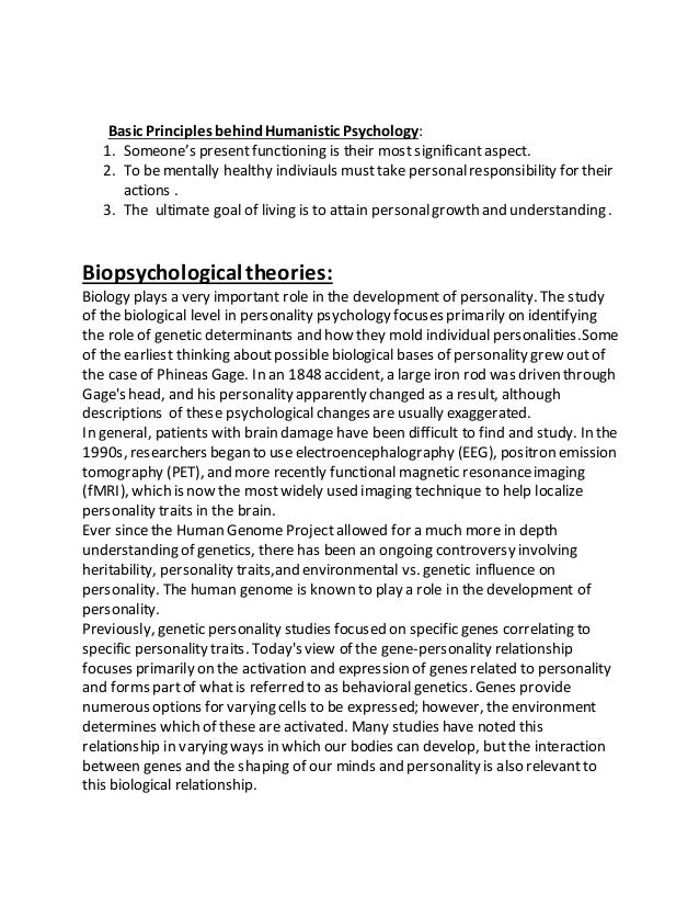 Assignment of Personality Psychology