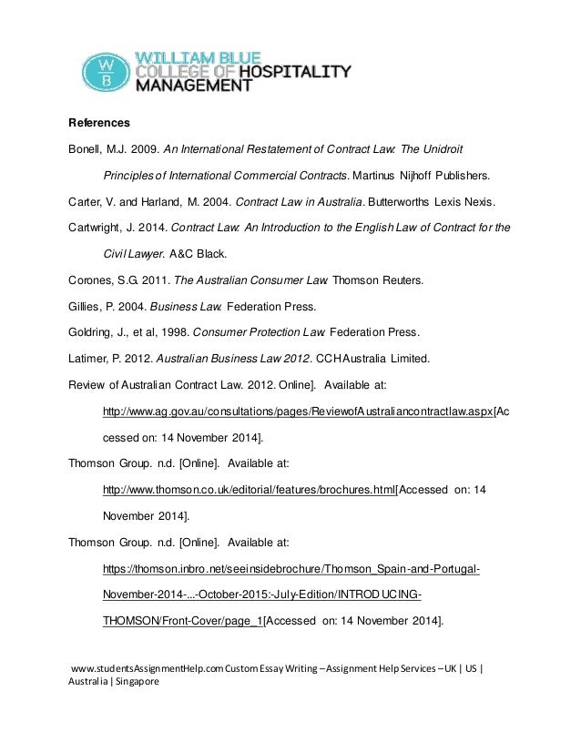 contract law in australia essay