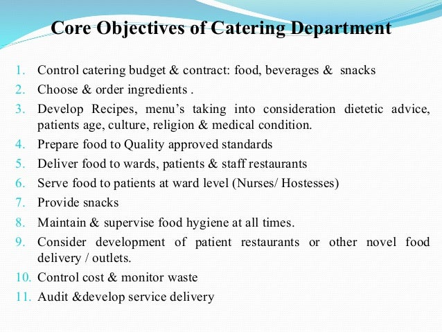 Contract Food Service Catering Services In A Hospital Contract Food