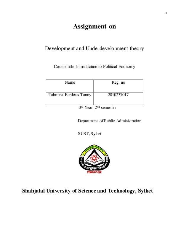 characteristics of underdevelopment pdf