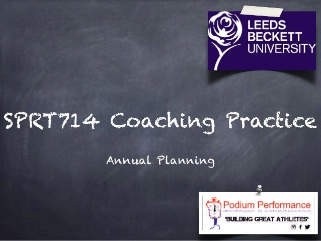 SPRT714 Coaching Practice Annual Planning