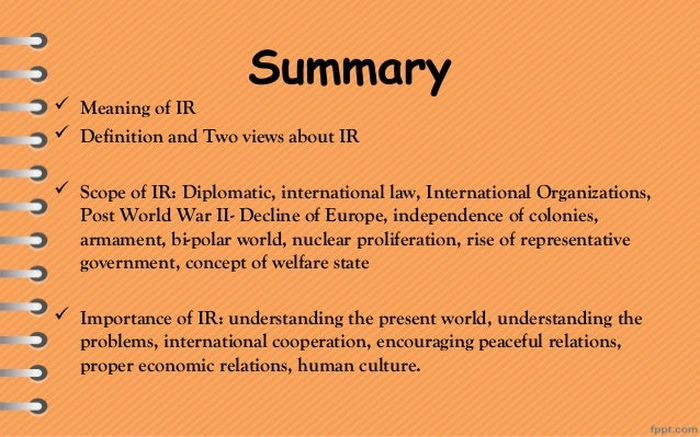 Assignment on international relation by seerat abbas