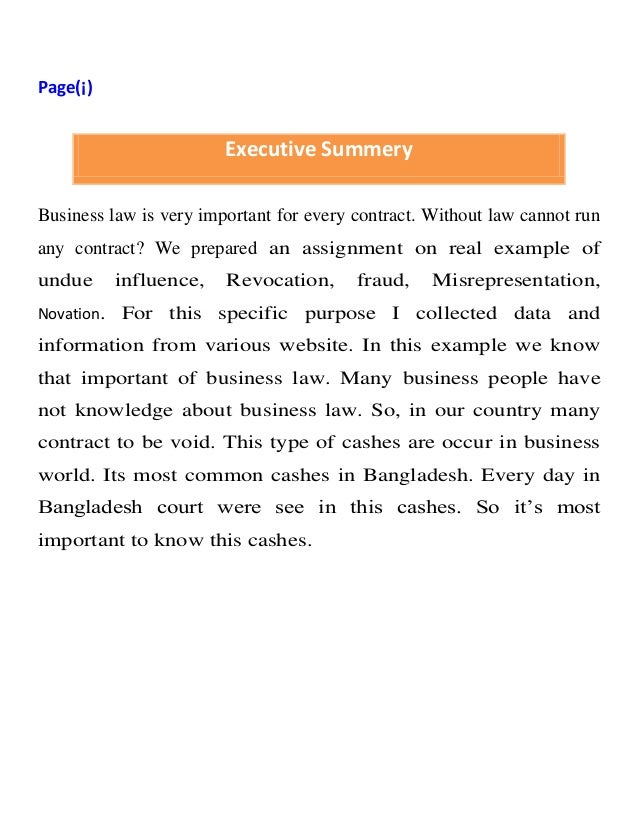 Real Examples Of Business Law