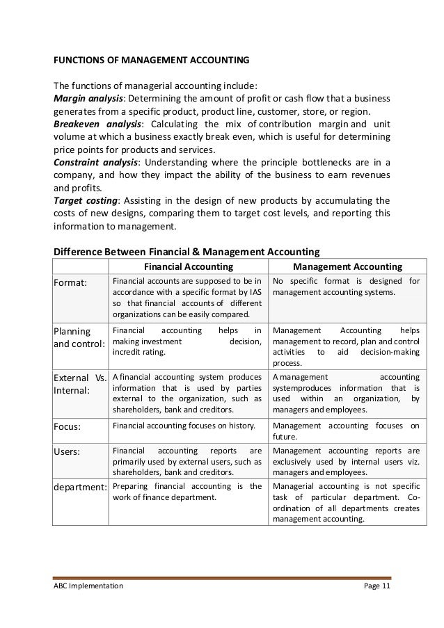 unit 5 management accounting assignment sample