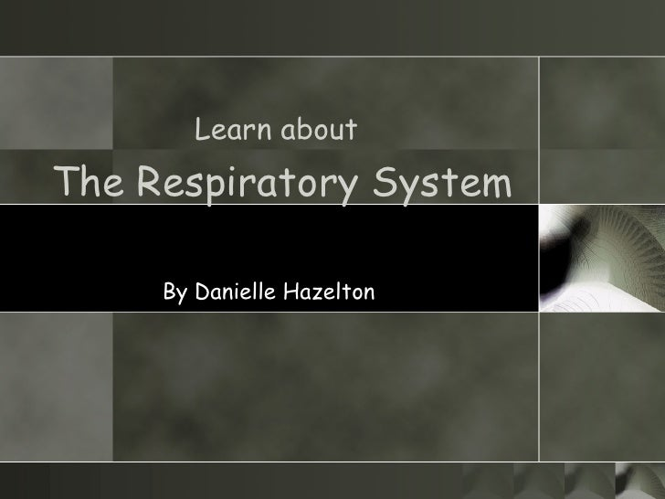 Learn about   The Respiratory System By Danielle Hazelton