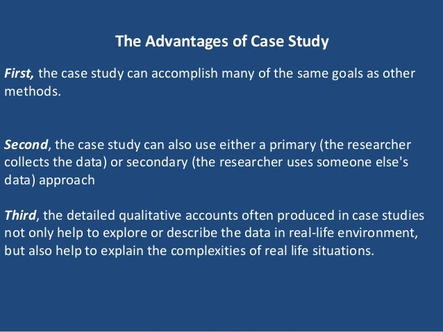 Advantages of Case Study Method