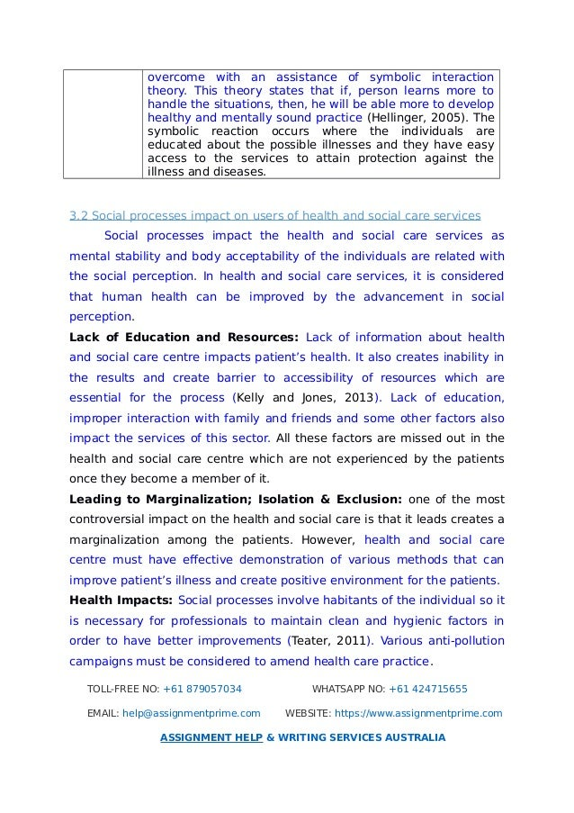 health and social care task Awareness of health and safety in social care  legislation relating to general health and safety in a social care setting - health and safety at work act 1974 is the primary piece of legislation covering occupational health and safety.