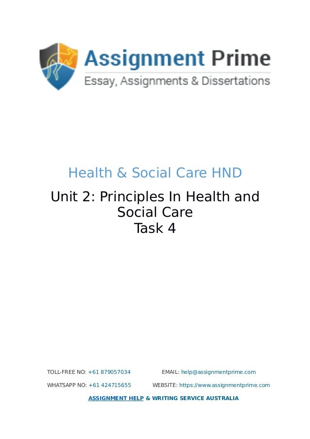 princples in health and social care