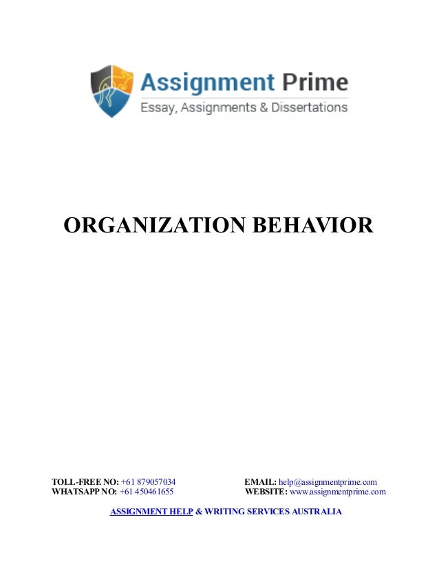 Assignment on organizational behavior