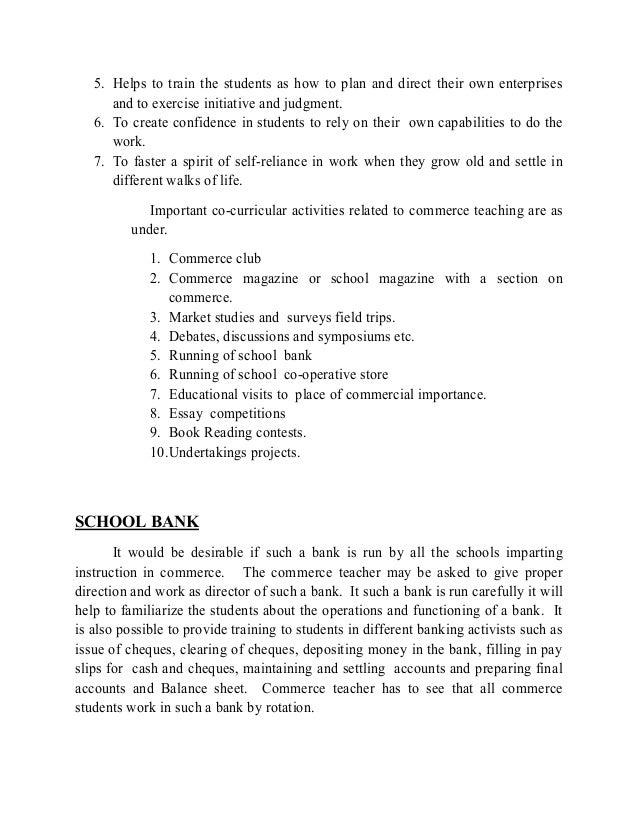 Commerce Education Essay Sample