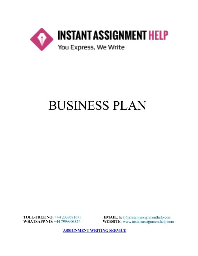 Business Plan Homework Help