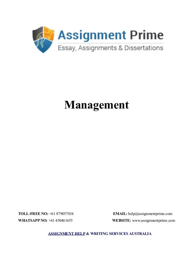 Assignment Sample Management Process In An Organisation