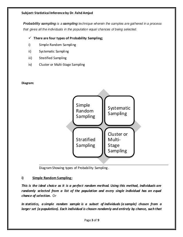 stratified sampling example essay