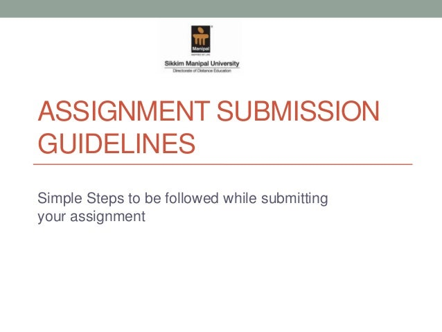 smu assignment submission