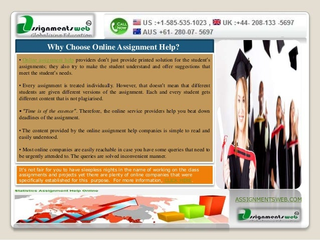Online assignment service