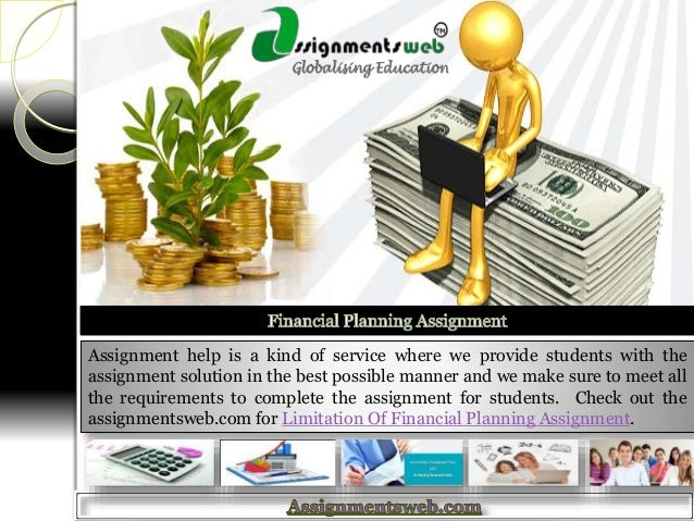 financial planning assignment