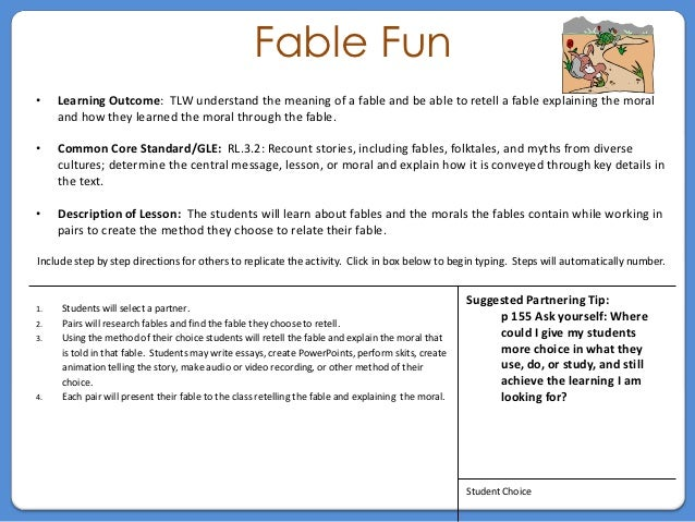 Grade 3 Fable Activity
