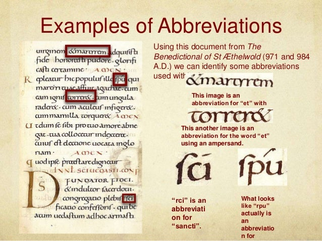 15 Examples Of Abbreviations