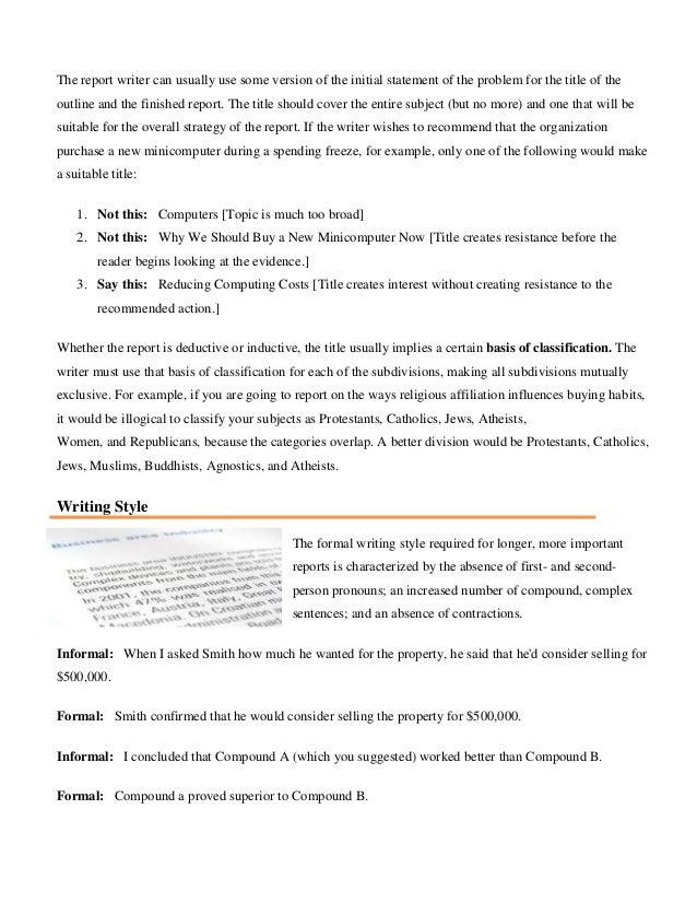 Written Communication Report