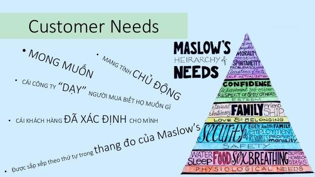 Customer Needs  • CÁI KHÁCH HÀNG  ĐÃ XÁC ĐỊNH CHO MÌNH