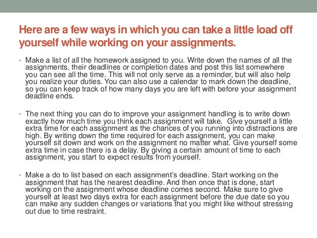 assignment writing how to handle multiple assignments and deadlines 2