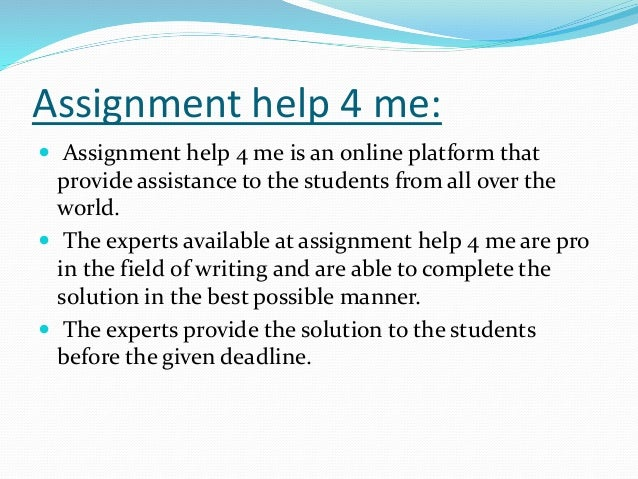 Are you stuck with assignment writing? Stressed with deadlines, lengthy assignments?