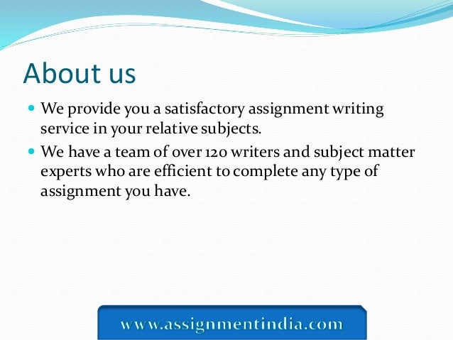 We Provide You a Non-Plagiarized Assignment Writing Service Online