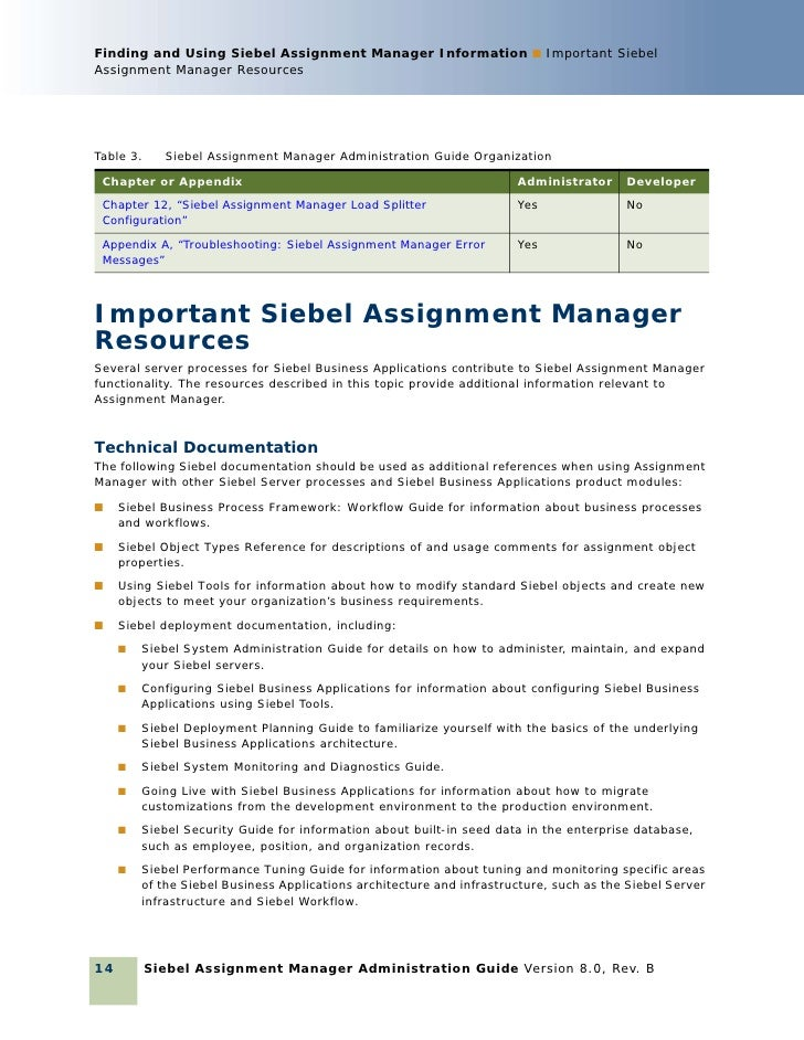 assignment administrator siebel bookshelf 7 8