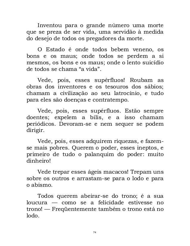 Satisfaction Of Morte Form | Assim Falou Zaratustra Lido Nietzsche