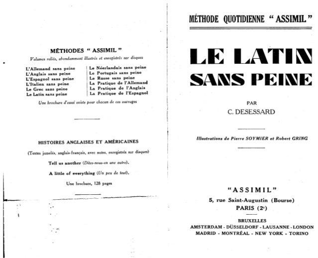 Assimil   le latin sans peine