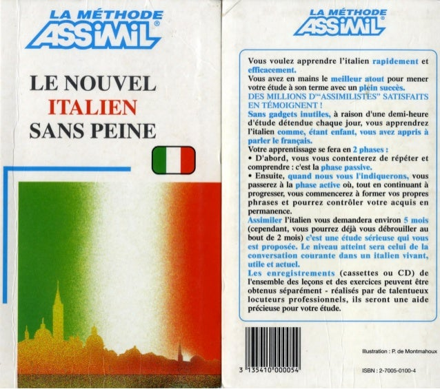 Assimil   le nouvel italien sans peine