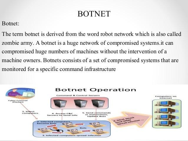the term botnet means _____________