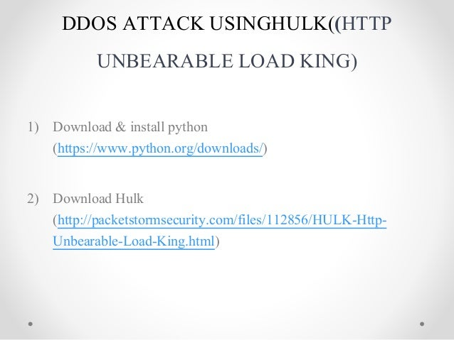 Assingement on dos ddos
