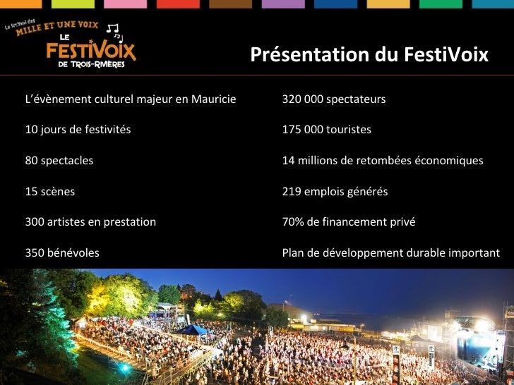 Assises du Tourisme 2009 - S. Boileau, FestiVoix Slide 2