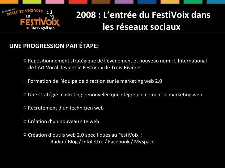 Assises du Tourisme 2009 - S. Boileau, FestiVoix Slide 3