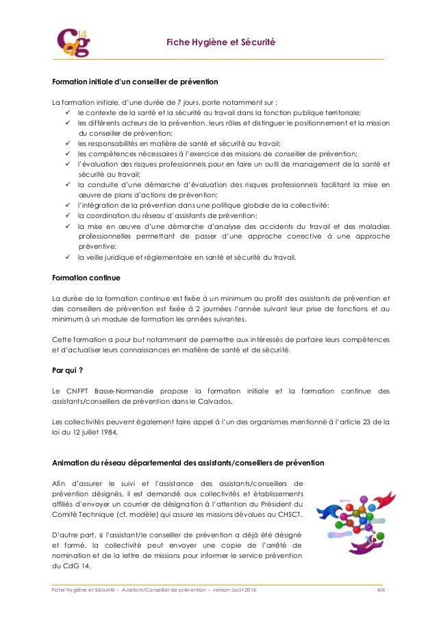 assistant conseiller de prevention