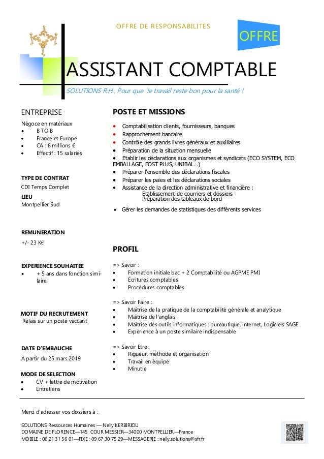assistant comptable